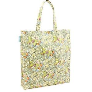 Chic-Arts-amp-Crafts-Style-Oilcloth-Shop-Tote-Bag-Golden-Lily-William-Morris