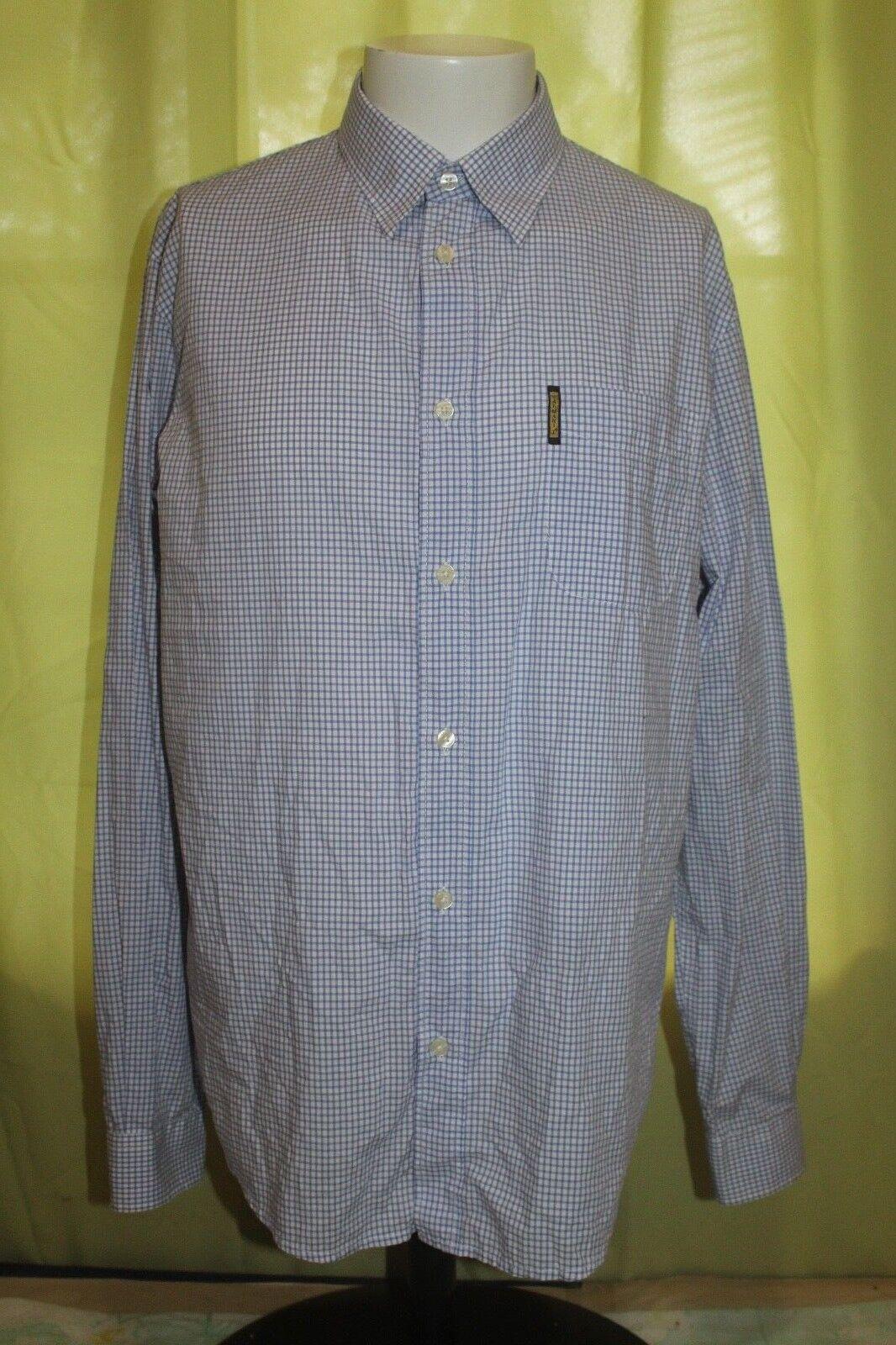 Armani Jeans männer's Blau Checks Dress hemd Größe XL RN 103723