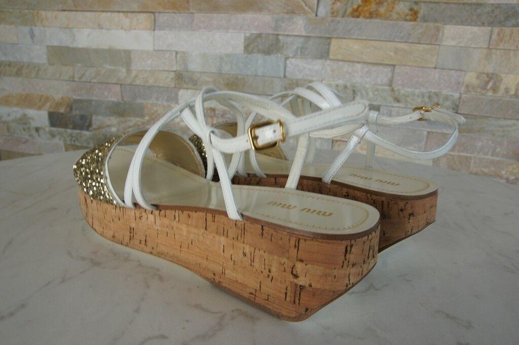 Miu Miu Miu Miu 40  s Plateformes  s Chaussures Paillettes Neuf 2aa726