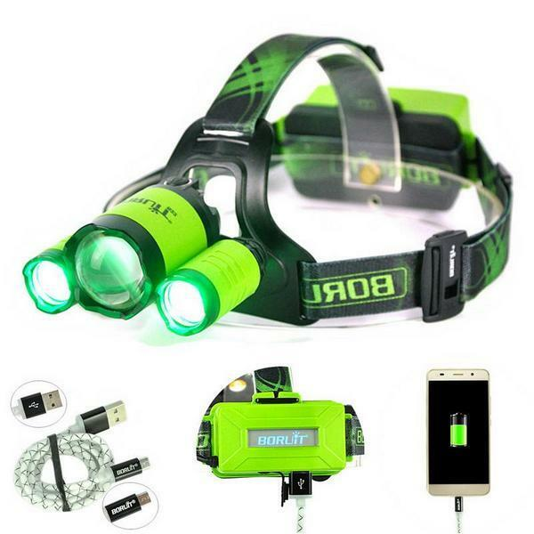 15000LMx -3xL2 led Zoom Headlamp green  red bluee Fishing Head Lamp light Hunting  first time reply