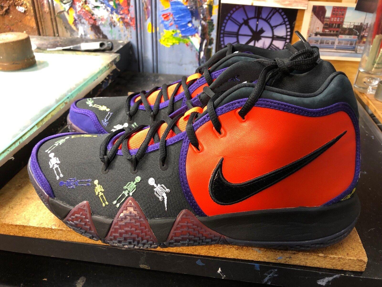 Nike Kyrie 4 DOTD TV PE 1 Day Of The Dead Team orange Black US 11 Men CIO278 800