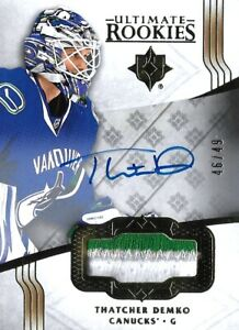 2016-17-ULTIMATE-ROOKIE-THATCHER-DEMKO-R-C-AUTO-PATCH-49-VANCOUVER-BEST