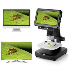5 Inch Digital Microscope 1500x 1080p Coin Microscope 8 Led Lights For Hdtv Mac