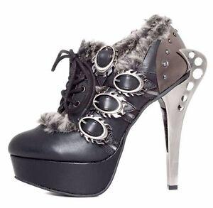 Hades Monarch Steampunk Fur Heel (Women's) qSP54