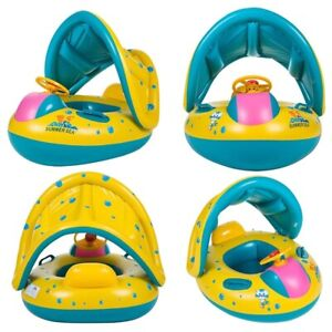 Kids Inflatable Swimming Ring Boat Seat Float For Baby Fun Water Pool Sand Play