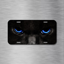 Cat Eyes Vehicle License Plate Front Auto Tag Plate Black Gato Panher Cougar NEW