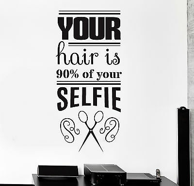 Vinyl Wall Decal Funny Hair Salon Quote Barbershop Stylist Stickers  (ig4400) | eBay