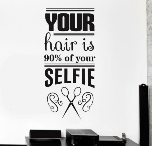 ig4400 Vinyl Wall Decal Funny Hair Salon Quote Barbershop Stylist Stickers