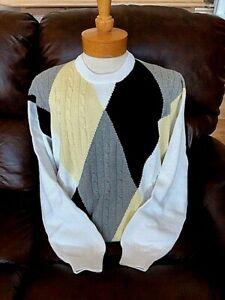 XL Blue Crewneck Sweater with Lion Logo $90 value New NWT Mens Pringle L