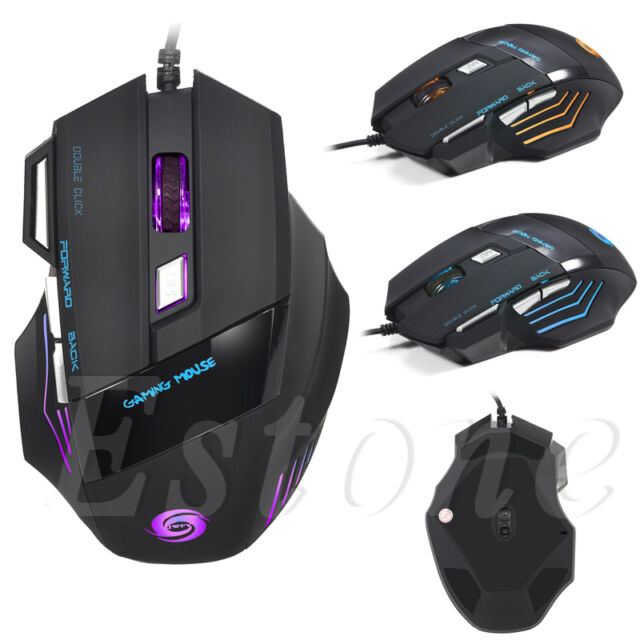 5500 DPI 7 Buttons LED USB Optical Wired Gaming Mouse For Pro Gamer Hot
