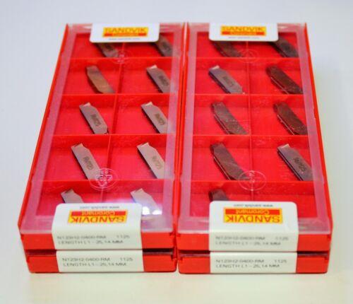 SANDVIK N123H2-0400-RM 1125,CoroCut 1-2 insert for profiling Lot of 10
