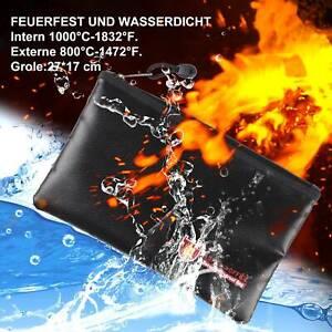 Schwarz Feuerfeste Dokumententasche Geldkassette Dokumentensafe Lagerung