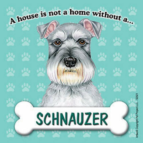 Schnauzer Magnet House Is Not A Home Uncrop