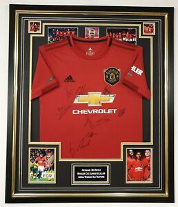 Manchester United 2019 2020 Signed Shirt Autographed Jersey Display AFTAL DEALER