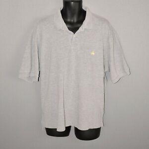 BROOKS-BROTHERS-GOLDEN-FLEECE-248-Gray-Short-Sleeve-Polo-Shirt-Men-039-s-XL