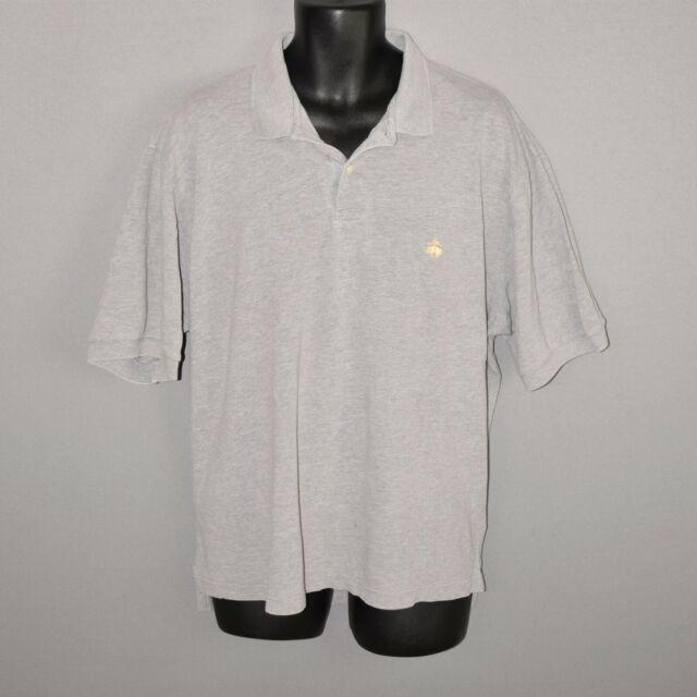 BROOKS BROTHERS GOLDEN FLEECE $248 Gray Short Sleeve Polo Shirt Men's XL