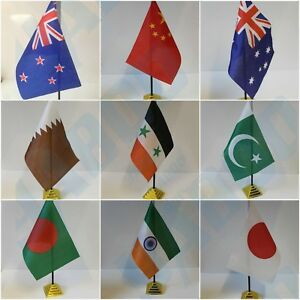 ASIAN-amp-AUSTRALIA-Table-Desk-Top-Flag-THAILAND-NEW-ZEALAND-PAKISTAN-INDIA