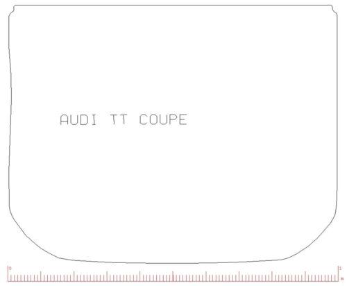 Pour Audi TT 2014 MK3 Entièrement Sur Mesure En Caoutchouc Noir Coffre Voiture Tapis