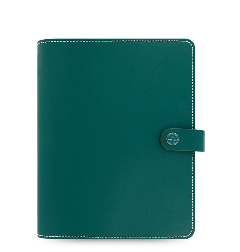 Filofax A5 Size Original Organiser Planner Diary Dark Aqua Leather - 022383 Gift