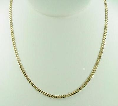 """New 22"""" 18K Gold Plated Cuban Curb Chain Link Necklace 2mm Lifetime Warranty"""