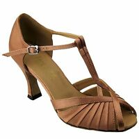 Very Fine Ladies Ballroom Dance Shoes 2707 Brown
