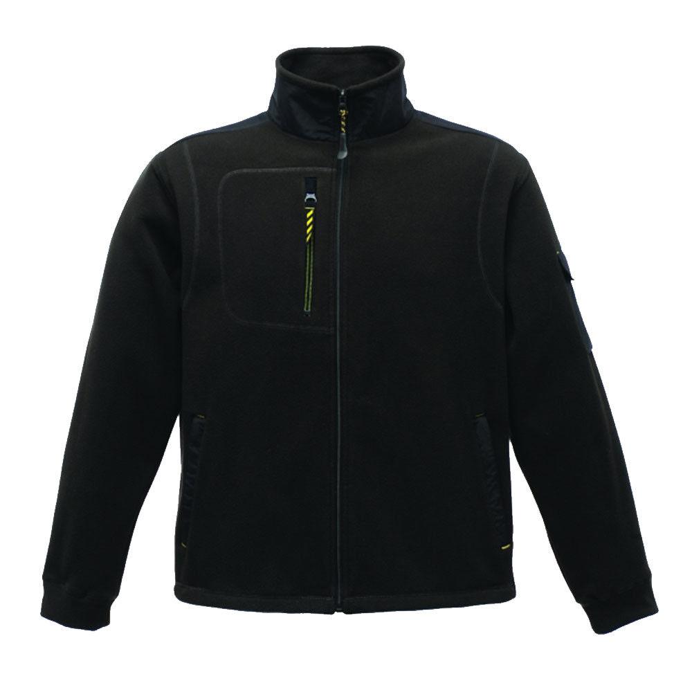 Regatta Jacket Mens Fleece Outdoor Workbase Heavy Duty Hardwear Noir chaud