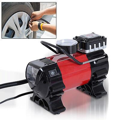 HOMCOM Heavy Duty 100PSI Pump Air Compressor Portable 12V Car Auto Tire Inflator