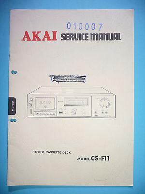 original Seien Sie Freundlich Im Gebrauch Tv, Video & Audio Service Manual-anleitung Für Akai Cs-f11