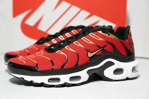 Details about Nike Womens Air Max Plus Shoes University Red/Metallic Gold  CU4919-600