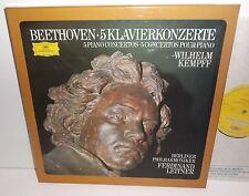 2721 066  Beethoven 5 Piano Concertos Wilhelm Kempff Berlin Phil Leitner 4LP Box