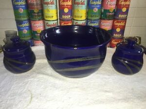 Large-ceramic-Studio-Pottery-bowl-amp-2-Small-Covered-Jars-by-Stuart-Allen-NH