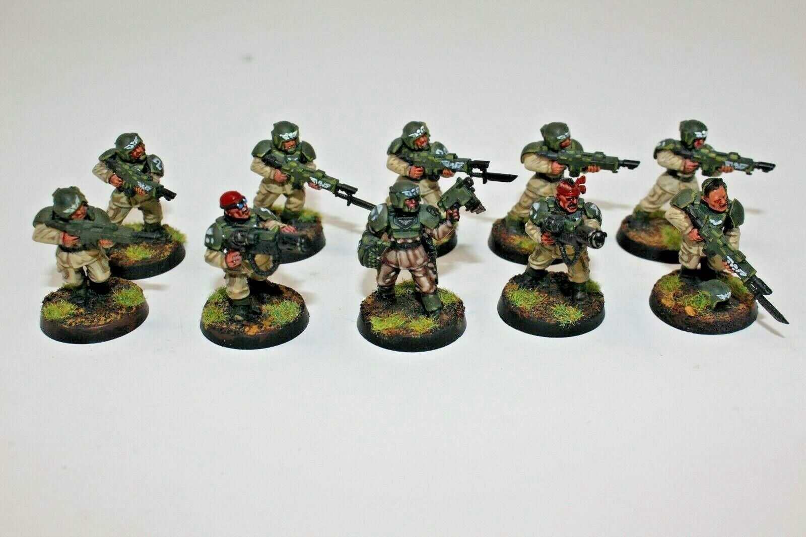 Warhammer Imperial Guard Cadaian Squad Well Painted - JYS83