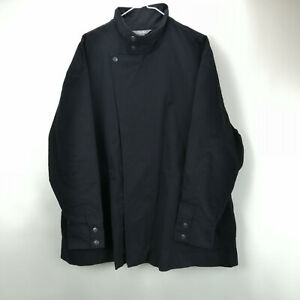 Martha Stewart Long Slv Zip Front Anorak Jacket Black L NEW A307687