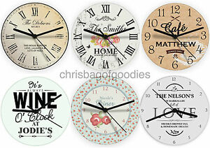 Kitchen Wall Clock | Personalised Kitchen Wall Clock Present Gift For Home Housewarming