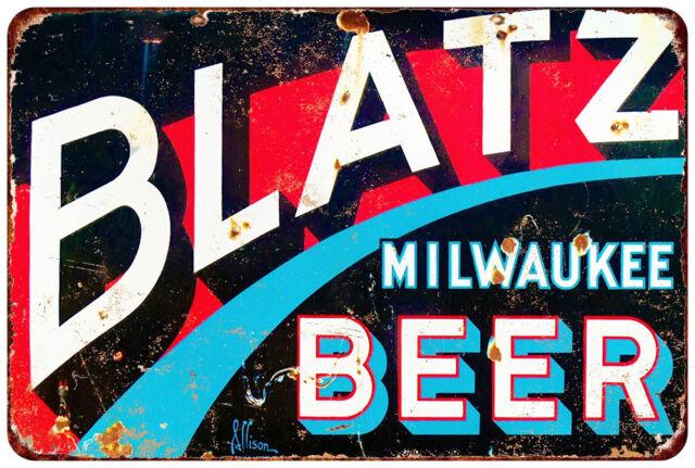 Blatz beer Tin vintage Look reproduction metal sign 8 x 12