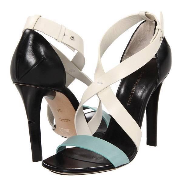Costume National Lima Stiletto Heel Sandalias, Zapatos de mujer 8US 38EU 6UK&AU