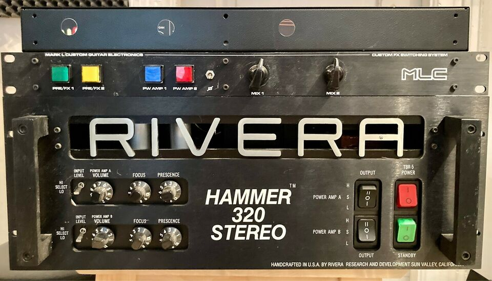Guitar-rig, Mark L Custom + Rivera