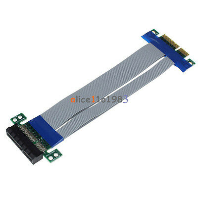 PCI-E Express Extension Cable Flex Ribbon 4X To 16X Extender Riser Card