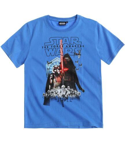 Boys T-Shirt Short Sleeve Top Star Wars Spiderman Avengers Age 3-14 Cotton New