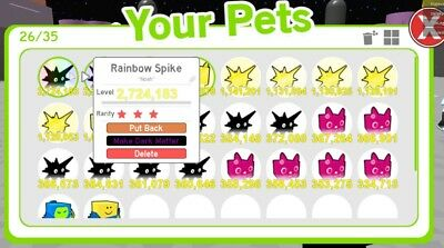 Roblox Pet Simulator Rainbow Spike Pet Ebay