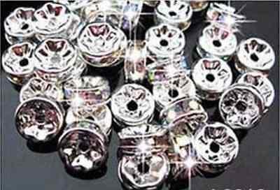 6MM For Swarovski Rhinestones Rondelle Spacer Beads  Crystal Grade 100PCS AAA+H