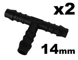 raccord t 14mm pour tuyau durite lave glace radiateur x 5 ebay. Black Bedroom Furniture Sets. Home Design Ideas