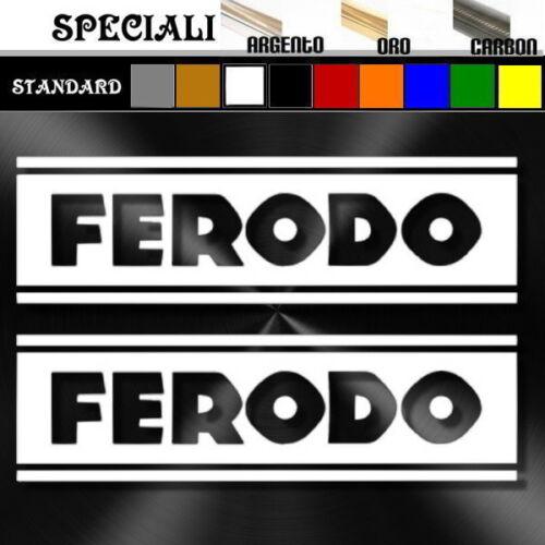 coppia adesivi sticker sponsor FERODO decal prespaziato,tuning auto,moto 15cm