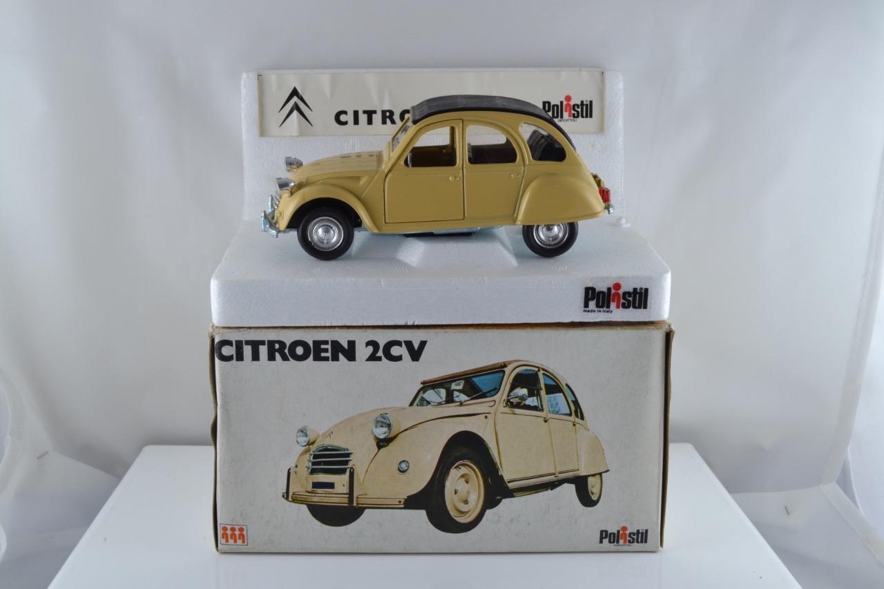 POLISTIL S26 CITROEN 2CV brun pâle 1 25 En parfait état, dans sa boîte SUPERB BOXED UK livraison gratuite