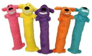 Multipet Loofa Dog Squeaky Toy ~ Assorted Sizes & Colors