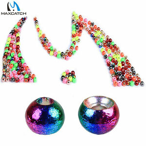 Tungsten Fly Tying Beads Assortment Colorful Hook Nymph Head Ball Bead 25Pcs//lot