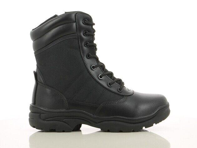 black Haut Coupe Arrondissez Bottes Fonctionnels de Travail Militaire Tactic