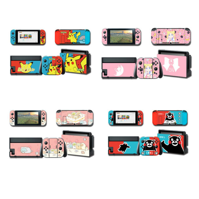 Nintendo Switch Sticker Vinyl Decals Full Set Skin Cartoon for NS