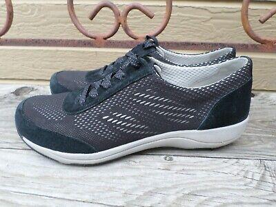 Dansko Hayes Black Suede Sneakers Women