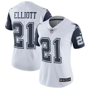 super popular b61c9 38231 Details about EZEKIEL ELLIOTT NIKE DALLAS COWBOYS WOMENS VAPOR COLOR RUSH  LIMITED JERSEY $150